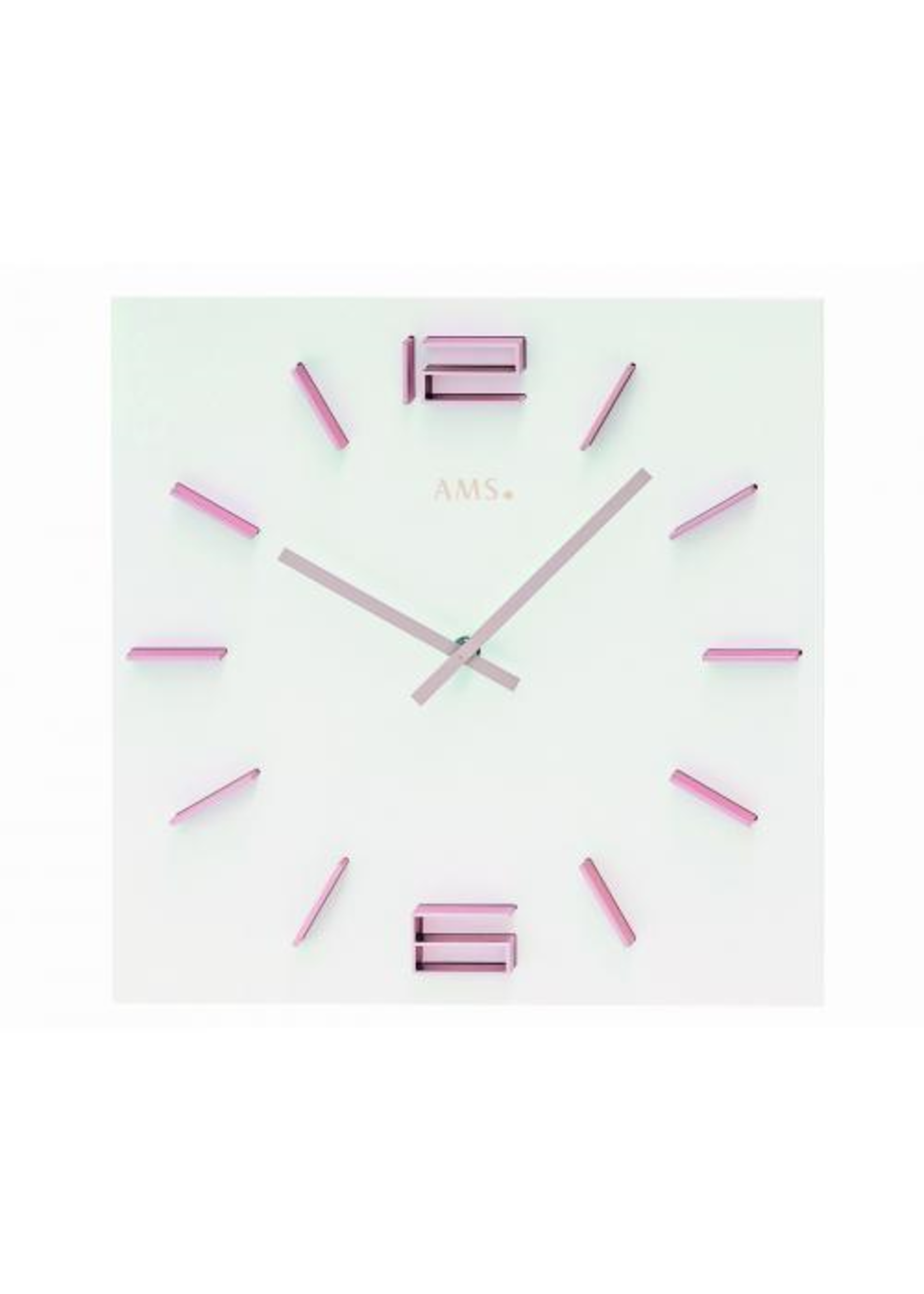 AMS Wandklok Pink Lady Modern Design