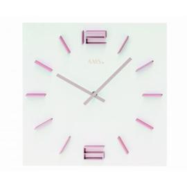 AMS Wanduhr Pink Lady Modernes Design