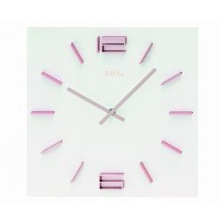 AMS Wanduhr Pink Lady Modern Design