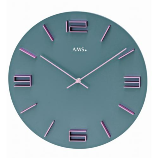 AMS Wanduhr Modern Grey Design