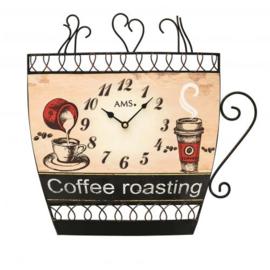 AMS Wandklok coffee Design