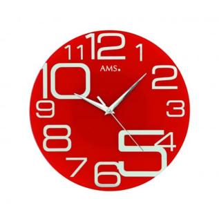 AMS Wanduhr RED HOT Modern Design