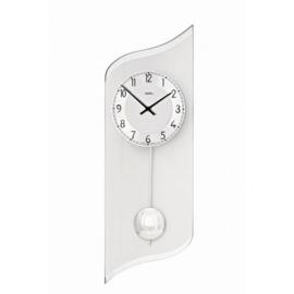 AMS Wanduhr Silber Schaukel Pendel mit modernem Design