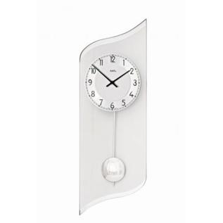AMS Wandklok Silver Swing met slinger modern design
