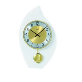 AMS Wanduhr Silber-und Gold modernes Design