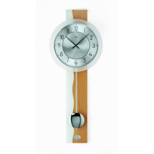 Klokkendiscounter Wandklok Glas & Wood modern design