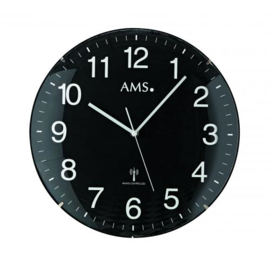 AMS Wanduhr Amazon Schwarz Modernes Design