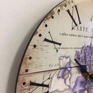 NiceTime Wanduhr Lavender Landelijk design