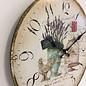 NiceTime Wandklok les fleur vintage