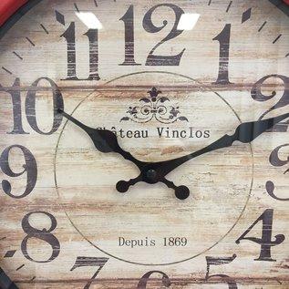 NiceTime Wandklok Vinclos Rouge Vintage Design