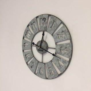 Klokkendiscounter Wanduhr in zink metaal design
