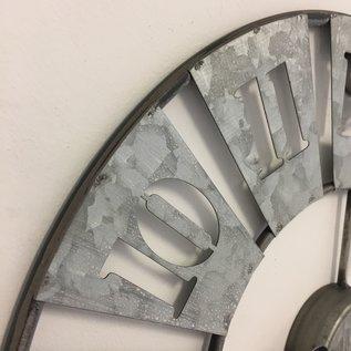 Klokkendiscounter Wandklok in zink metaal design