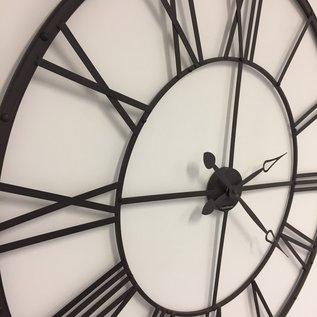 Klokkendiscounter Wanduhr XXLRomeins wiel bruin vintage design