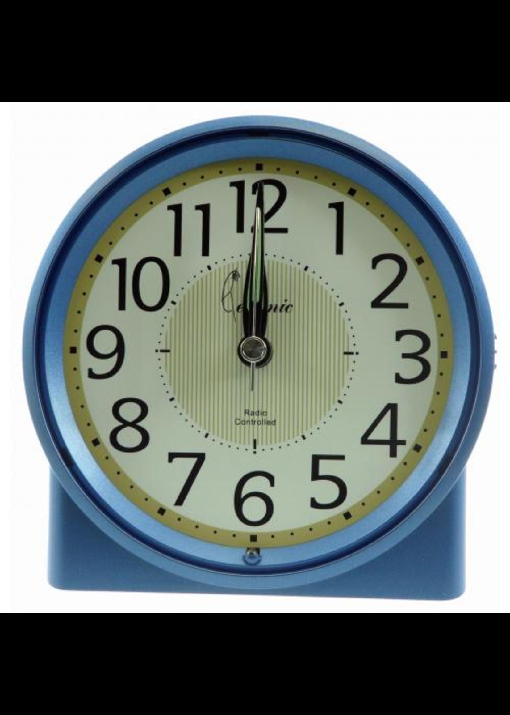 Wekker RADIO CONTROL SIGNAAL BLUE