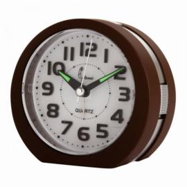 Cetronics Clock ROUND Design Brown