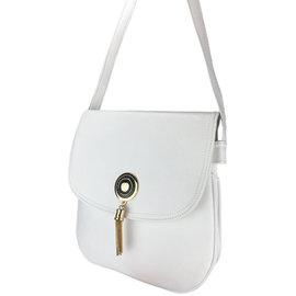 Klokkendiscounter Damen-Handtasche Montpellier Design WEISSE
