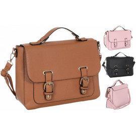 Klokkendiscounter Damen-Handtasche TORINO Design Kamel
