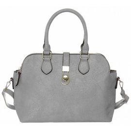Klokkendiscounter Damen-Handtasche schones Design Grau
