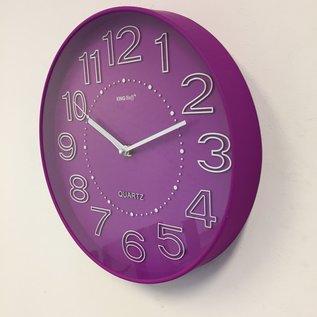 NiceTime Wanduhr Lumina Violet Modern Design