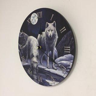 NiceTime Kinder wandklok met wolven