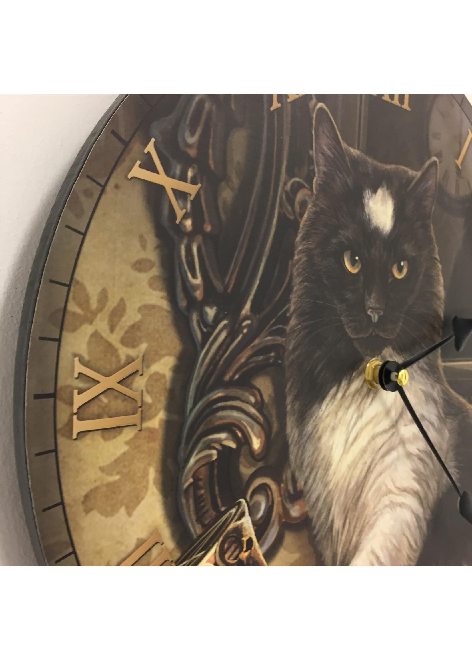 Klokkendiscounter Wandklok voor kinderen met kat