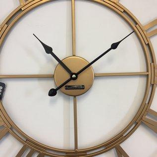 Klokkendiscounter Wandklok Golden Wheel 60 Industrieel Retro Design