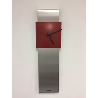 Klokkendiscounter Wandklok NEW YORK  SKYSCRAPER RED