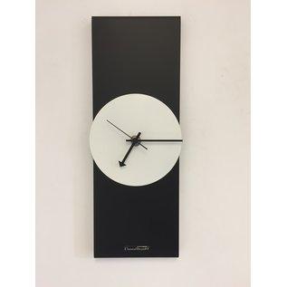 Klokkendiscounter Wandklok Black-Line & White