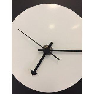 Klokkendiscounter Wanduhr Black-Line  & White