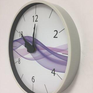 NiceTime Wanduhr DANCER Purple Wave Modern Design