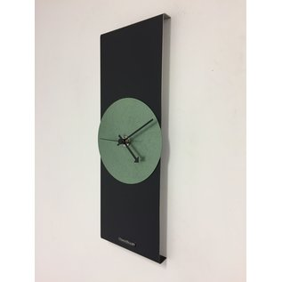 Klokkendiscounter Wanduhr Black Line & Hammer Green Modern Design Edelstahl