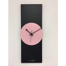 ChantalBrandO Wandklok Black-Line Pink Panther Modern Design RVS