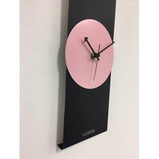 Klokkendiscounter Wandklok Black-Line Pink Panther Modern Design RVS