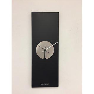 Klokkendiscounter Wandklok Black-Line Silver EYE Modern Design RVS