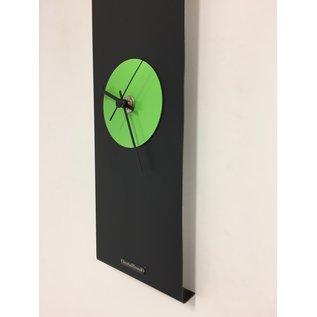 ChantalBrandO Wandklok Black-Line & GREEN Modern Design RVS