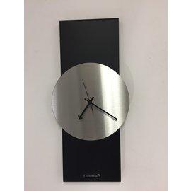 ChantalBrandO Wandklok Black-Line & Silver Modern Design RVS