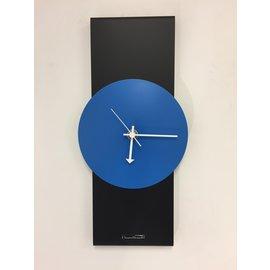 ChantalBrandO Wandklok Black-Line & BLUE Modern Design