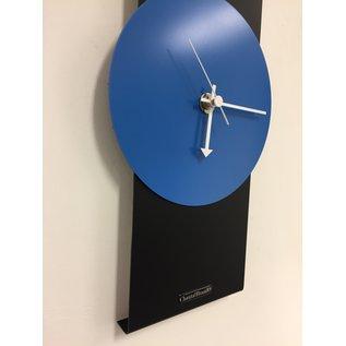 Klokkendiscounter Wandklok Black-Line & BLUE Modern Design