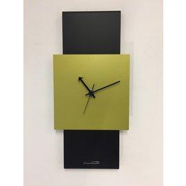 Klokkendiscounter Wandklok Black-Line & LIME GREEN Modern Design