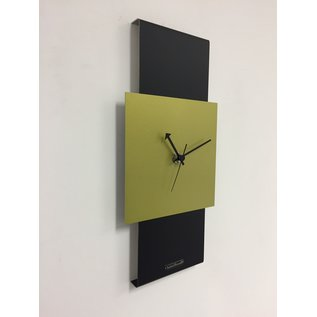 ChantalBrandO Wandklok Black-Line & LIME GREEN Modern Design