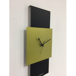 Klokkendiscounter Wanduhr Black-Line & LIME GREEN Modern Design