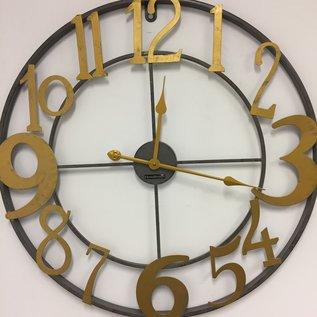 Klokkendiscounter Wanduhr Gold Rush Industrieel Design RETRO