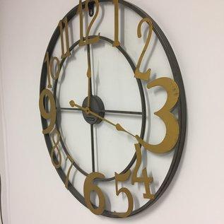 ChantalBrandO Wandklok Gold Rush Industrieel Design RETRO