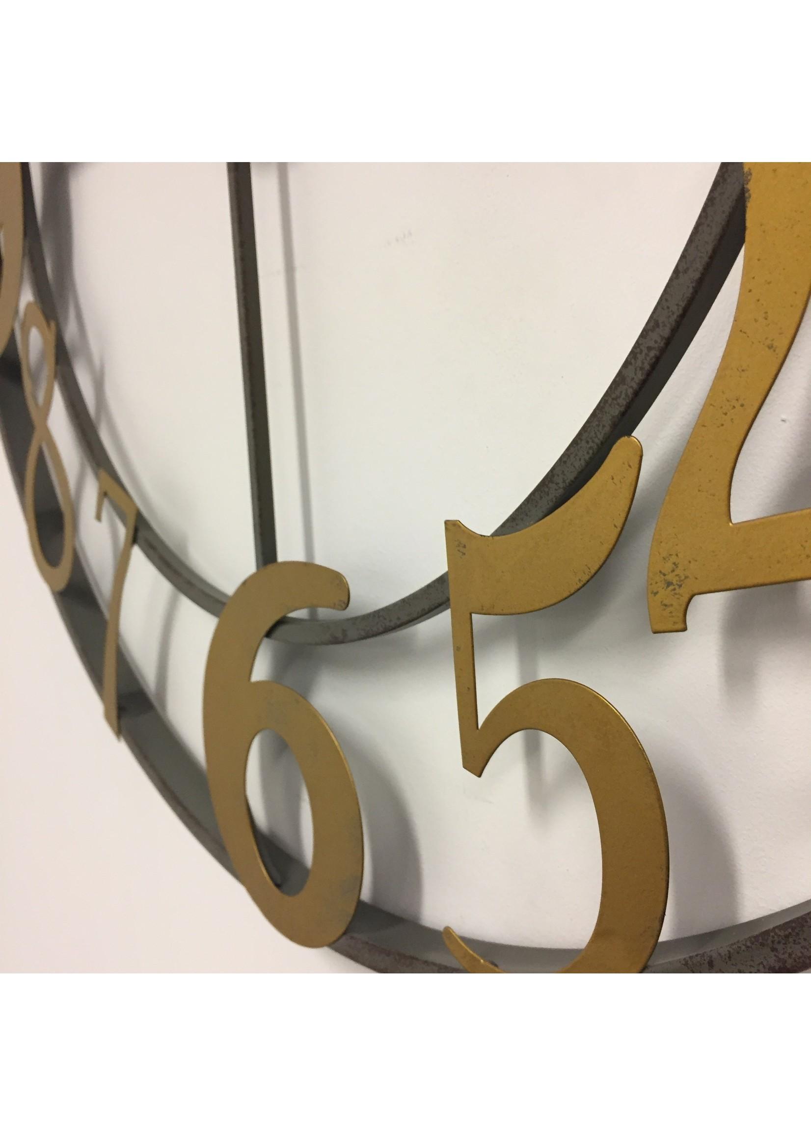 Klokkendiscounter Wandklok Gold Rush Industrieel Design RETRO