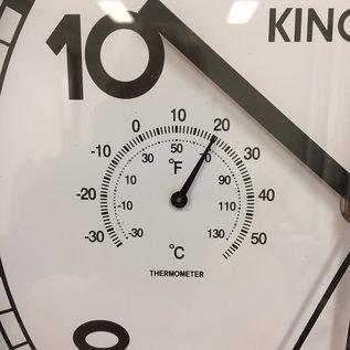 NiceTime Wanduhr met Temperatuur en vochtmeter modern design