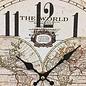 Saramax Wandklok Wereld Beeld Retro Design