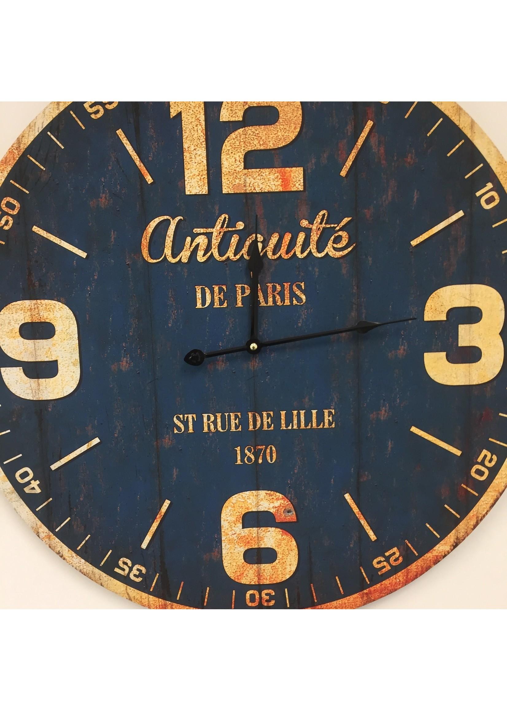 Wandklok PARIS ANTIQUE BLUE
