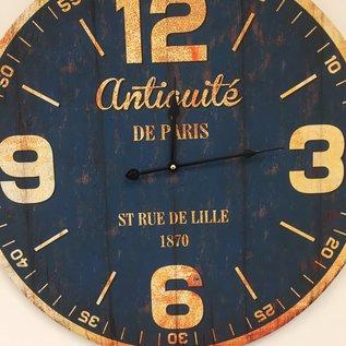 Saramax Wandklok PARIS ANTIQUE BLUE
