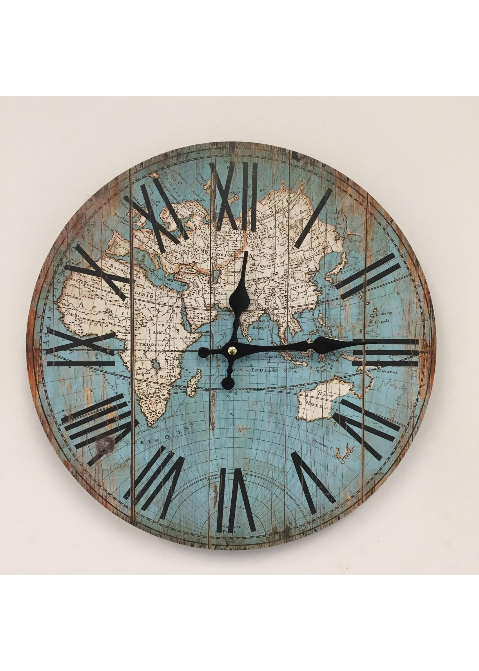 Klokkendiscounter Wandklok WORLD II RETRO VINTAGE DESIGN