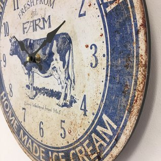 Saramax Wanduhr Ice Cream Vintage retro design